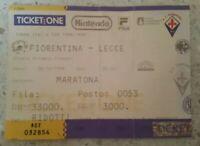 FIORENTINA - LECCE - BIGLIETTO - MARATONA RIDOTTI - COPPA ITALIA TIM - 1998/1999