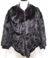 Oleg Cassini Vintage faux fur brown zip coat jacket Size Sz Large Lg L