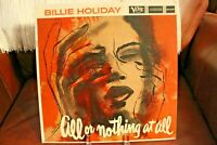 Billie Holiday All Or Nothing At All LP Verve MGV8329 1958 Mono Cover & Vinyl VG