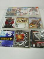 Lot of 9 PlayStation 3 PS3 Games guitar hero, Rage, Uncharted, L.A. Noire & ETC