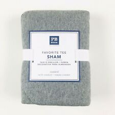 Pottery Barn Dorm Grey Cotton Favorite Tee Sham Pillow Case Standard Size