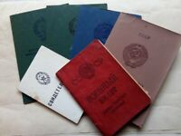 Set of 5 USSR Soviet Documents to Communist Labor Kosogorov