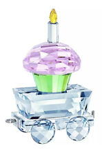 New in Box Swarovski Multicolored Crystals First Steps Cupcake Wagon #5377674