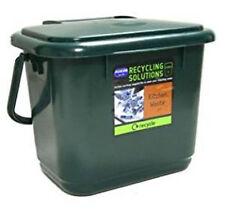 Addis 5 Litre Kitchen Compost Bin Plastic Food Waste Caddy Recycling DARK GREEN