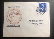 1948 Arnhem Netherlands First Day Cover FDC To USA Queen Juliana Coronation