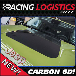 JEEP RENEGADE HOOD CARBON 6D STICKER DECAL TRAILHAWK LIMITED PERFECT SPORT FIT