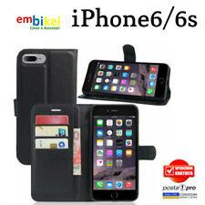 per APPLE IPHONE 6 6s Custodia Flip Cover Libro Portafoglio Chiusura Magnetica