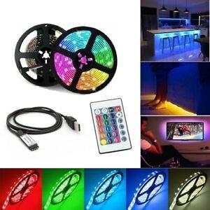 1-5m USB Led Lights Strips 5050 RGB TV Backlight with Controller Mood Lighting