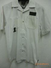 Camicie casual e maglie da uomo bianca a righe in misto cotone