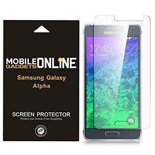 SAMSUNG GALAXY ALPHA PACK OF 5 SCREEN PROTECTOR FILM INVISIBLE GUARD AND CLOTH
