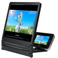 Foldable Cell Phone Screen Magnifier Expander Enlarge With Holder/Stand Bracket