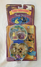 Disneys Tiny Collection Beauty and the Beast Playcase Vintage 1995 Sealed NEW