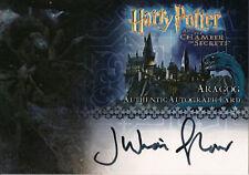 Harry Potter & The Chamber of Secrets, Aragog Auto Card
