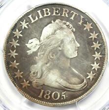 1805/4 Draped Bust Half Dollar 50C O-102 - PCGS VG Detail - Rare Overdate Coin!