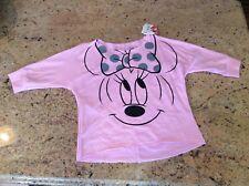 Minnie Mouse shirt NWT Girls M $24 Pink w black glitter Sweet top