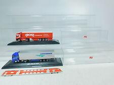 AU886-1# 2x Herpa H0 LKW/Semi-remorque MAN: Gardner Transport+ Grossmann