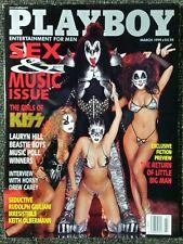 Vintage Playboy magazine March 1999 Girls of Kiss, Drew Carey, Sex & Music