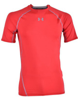 UNDER ARMOUR Heatgear Core T Shirt Mens Red Size Small *REF58