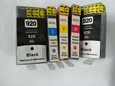 5x Compatible HP 920XL Ink Cartridge chip Officejet Pro 6500a Plus Wireless 7000
