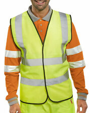 BSEEN WCENGXL EN471 HI VIZ YELLOW VEST PACK OF 10 HI VIS SIZE XL FREE POST