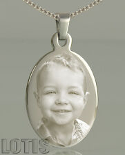 Customised Photo Engraved Oval Pendant - Have your photo permanently engraved