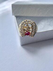 Real 14k Gold Men's Horseshoe Ring Size 10 - Anillo De Hombre