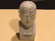 L.N. Fowler Phrenology Head 8' Tall Glazed Ceramic Bust - 337, Strand London