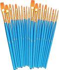 Artists Brushes Paint Brushes Set 2 Pack 20 Pcs Round Pointed Tip Paintbrushes