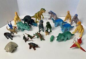 Vintage Lot of 23 1987 1988 Playskool H-G Plastic Dinosaurs 1980s Toys