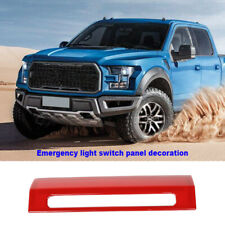 Car Emergency Warning Light Switch Decor Cover Fit For Ford F150 2015+ ABS Red