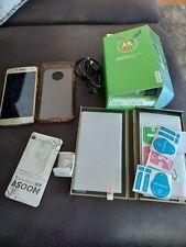 Motorola MOTO G5 Plus XT1687 32GB FINE GOLD (Unlocked) EUC PLUS ACCESSORIES!