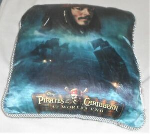 Disney Pirates of the Caribbean At World's End Throw Pillow Johnny Depp HTF