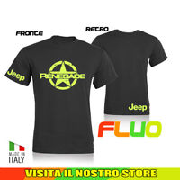 T SHIRT MAGLIA JEEP RENEGADE 2 OFF ROAD AUTO TUNING IDEA REGALO FLUO UOMO DONNA