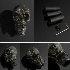 New Black Gold Skull Head Gear Stick 5 6 Universal Manual Speed Car Shift Knob