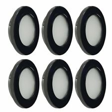 Dream Lighting RV LED Recessed Down Light 2W Warm White Black Shell Pack of 6