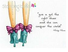 New Stamping Bella Cling Rubber Stamp uptown girl RIGHT SHOES free us shp