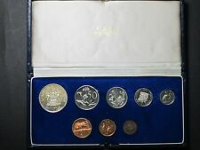 1970 South Africa Proof Coin Set Deluxe Presentation Case Display Silver Coins
