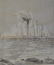 NY Daily Graphic. View of the Explosion from Ward's Island. 1876.