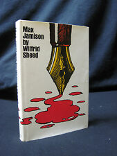 Max Jamison by Wilfrid Sheed HC First 1st Like New Signed Hardcover 1970