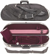 Bobelock Black Fiberglass 4/4 Violin Case: Wine Velvet