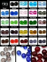 BUY 3 GET 3 FREE 200x 4mm 100x 6mm 50x 8mm Crystal Glass Round Beads UK SELLER