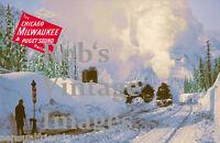 Milwaukee Road Railroad Photo Hiawatha Steam Poster Snoqualine Pass CMSP 1920