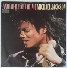 """Michael Jackson Another Part Of Me Single 7"""" España promo one sided yellow label"""