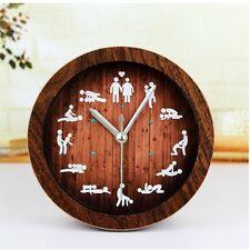 Sexe Horloge en bois couleur Table Circulaire alarme 12 sexy positions Home Living Room