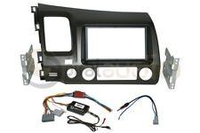 Radio Dash Kit Combo Standard 2DIN GRAY + SWC Wire Harness + Antenna HO96