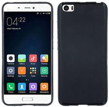 DESIGNER hülle schale Etui Gummi Case Tasche Bumper In schwarz für Xiaomi Mi5