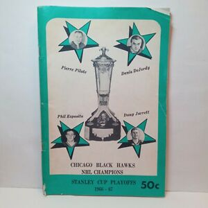 Chicago Blackhawks 1967 Stanley Cup Playoffs program Toronto Maple Leafs NHL