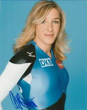 SEXY ANNI FRIESINGER SIGNED GERMANY SPEED SKATING 8x10 PHOTO #1 ANNA PROOF