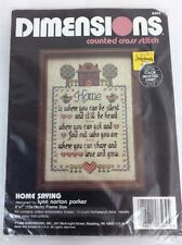 Dimensions Counted Cross Stitch Home Saying Needlepoint Emboidery Kit
