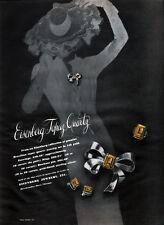 Eisenberg Topaz Quartz Custom Fashion Jewelry BOWKNOT PIN Earrings 1943 Print Ad